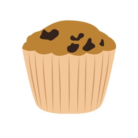 Muffin with raisins image. Vector illustration design 일러스트