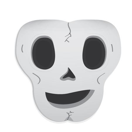 Happy head skull cartoon. Vector illustration design 向量圖像