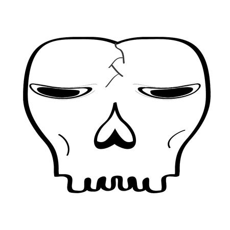 Head skull cartoon image. Vector illustration design 向量圖像
