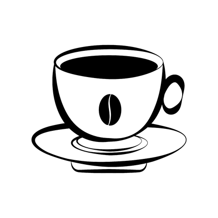 Isolated coffee cup icon. Vector illustration design