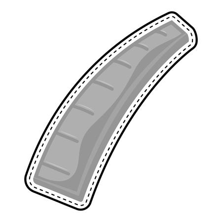 Isolated ruler dotted sticker. Vector illustration design 向量圖像