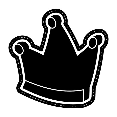 Isolated crown icon dotted sticker. Vector illustration design