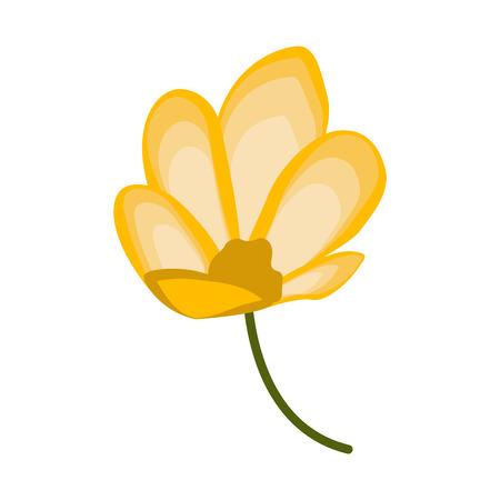Isolated beautiful flower image. Vector illustration design Ilustrace