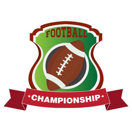 American football emblem image. Vector illustration design