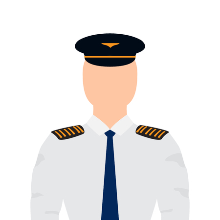 Isolated male pilot image. Vector illustration design Illustration