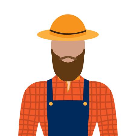 Isolated male farmer image. Vector illustration design