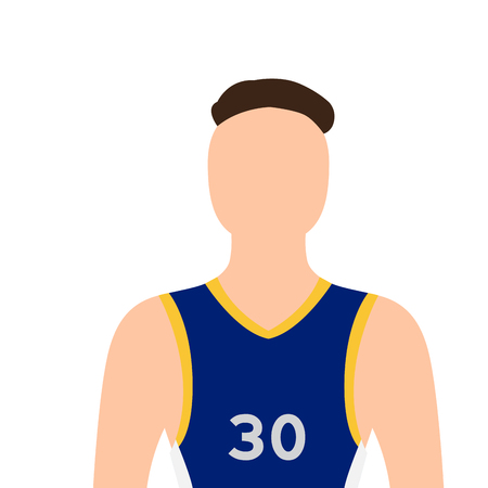 Isolated basketball player image. Vector illustration design 向量圖像
