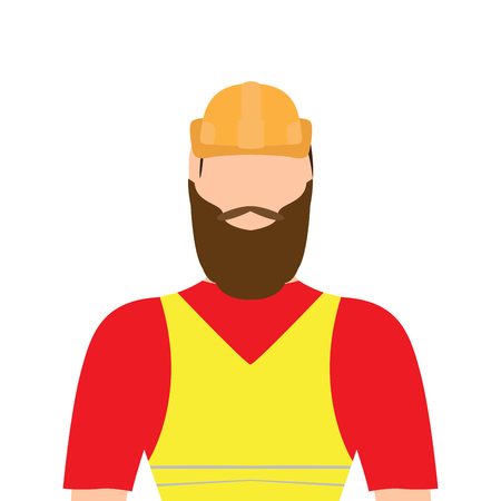 Isolated male builder image. Vector illustration design