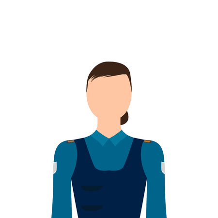 Isolated policewoman character image. Vector illustration design Stock Illustratie