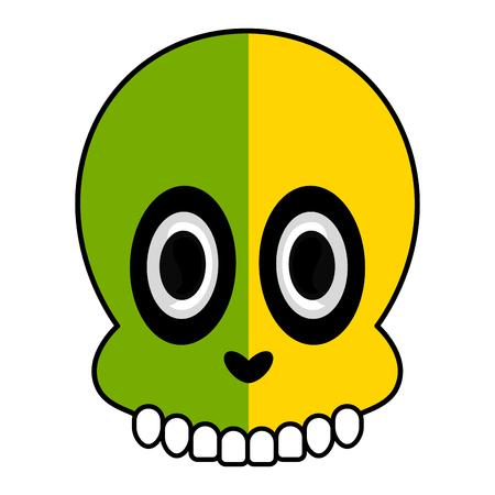 Isolated happy human skull cartoon image - Vector 向量圖像