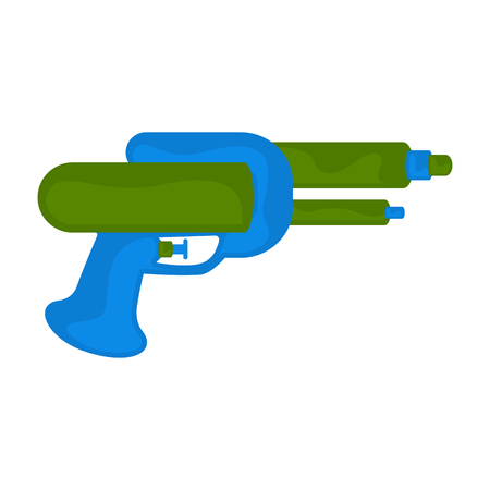 Isolated colored water gun toy for kids - Vector Illustration