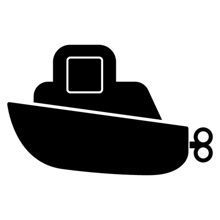 Isolated colored boat toy with crank icon - Vector