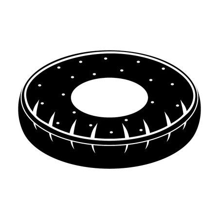 Isolated tire shaped pool float icon - Vector Illusztráció