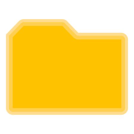 Isolated yellow folder symbol on white background - Vector