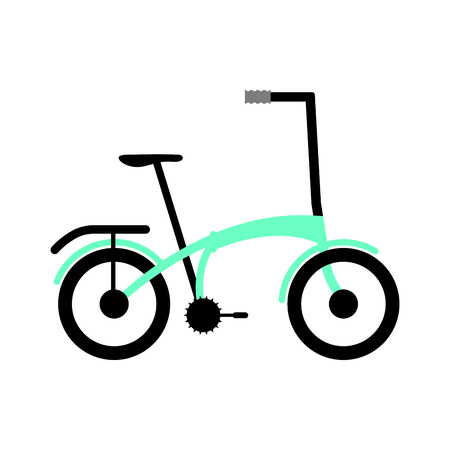 Side view of a colored bicycle - Vector