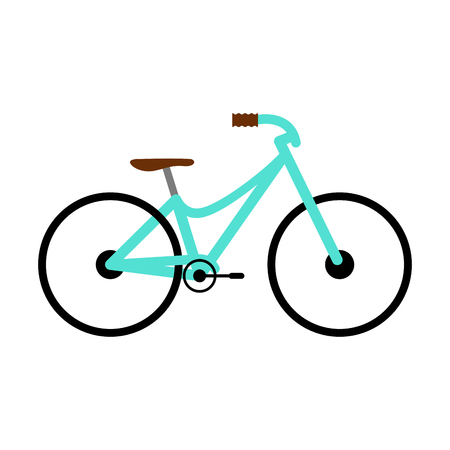 Side view of a colored bicycle - Vector Çizim