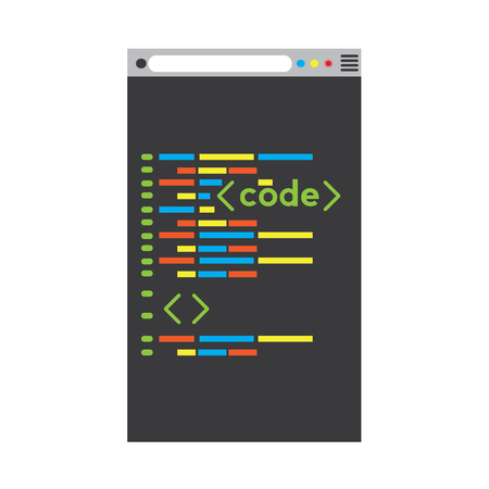 Programming code on a browser window - Vector  イラスト・ベクター素材