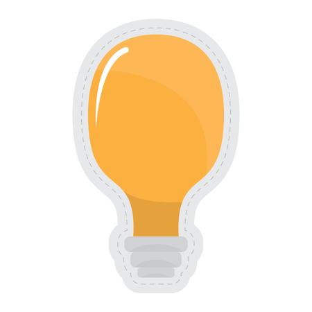 Lightbulb dotted sticker image. Vector illustration design