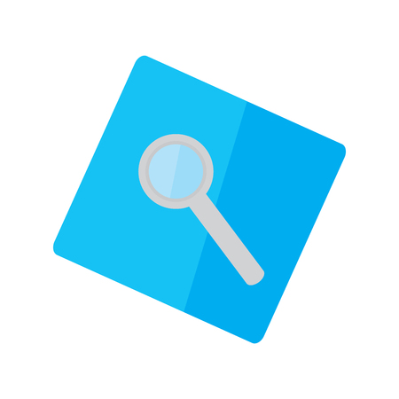 Isolated magnifying glass on a sticker - Vector