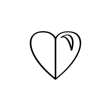 Isolated heart shape icon on a white background - Vector