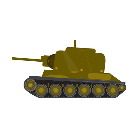 Side view of a military war tank - Vector