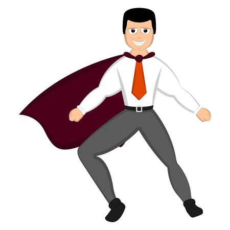 Isolated super dad with a hero costume - Vector Foto de archivo - 124863624