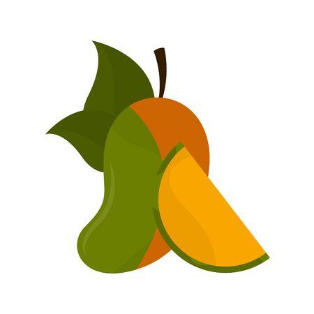 Isolated mango image on a white
