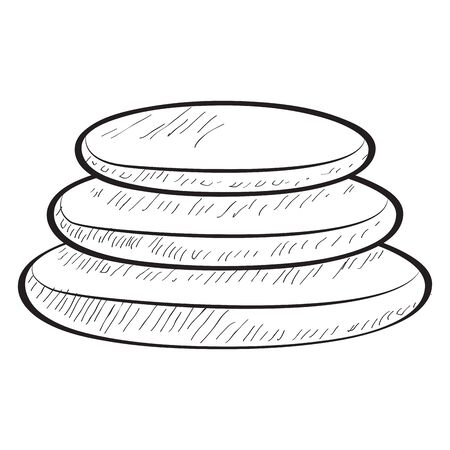Sketch of pile of spa stones - Vector