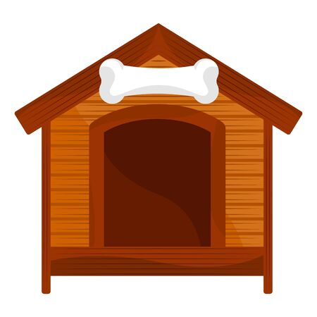 Isolated dog house on a white background - Vector