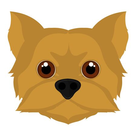 Isolated cute yorkshire terrier cartoon. Dog breeds - Vector