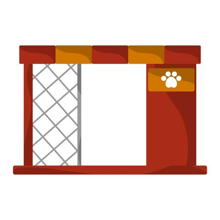 Isolated dog house on a white background - Vector Stock Illustratie