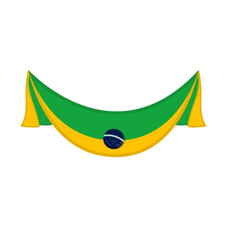 Flag of Brazil on a white background - Vector