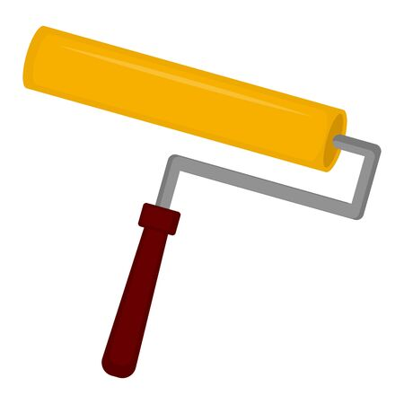 Isolated paint roller. Construction tools - Vector illustration Çizim