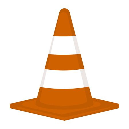 Isolated traffic cone on a white background - Vector