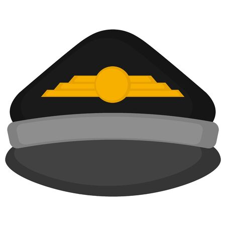 Isolated pilot cap on a white background - Vector Иллюстрация