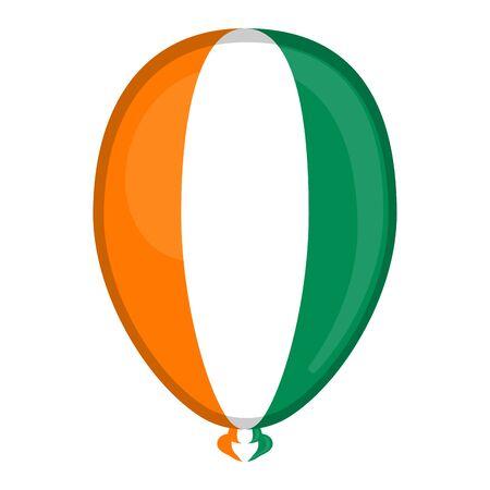 A balloon shaped flag of Ivory Coast- Vector illustration Ilustrace