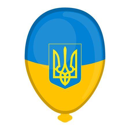 A balloon shaped flag of Ukraine - Vector illustration