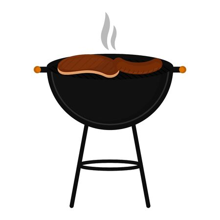 Isolated grilled meat steak. Barbecue - Vector illustration