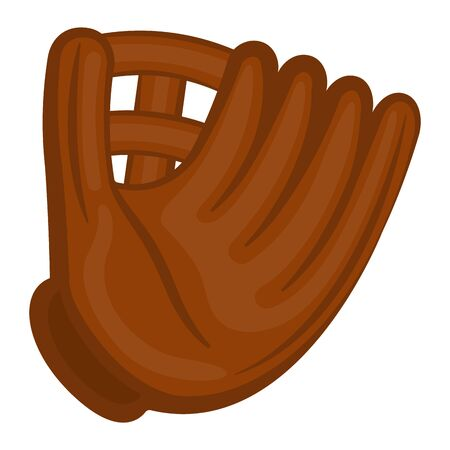Isolated baseball glove on a white