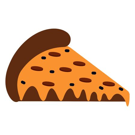 Isolated pizza image on a white background - Vector