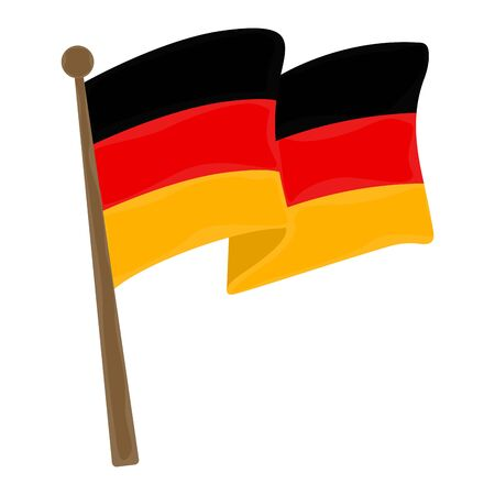 Isolated flag of Germany over a white background - Vector Stock Illustratie