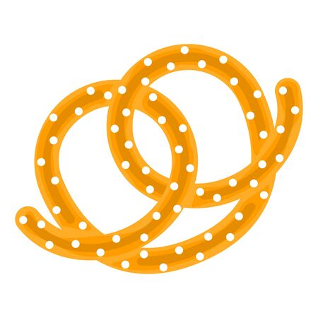 Isolated pretzel icon over a white background - Vector illustration