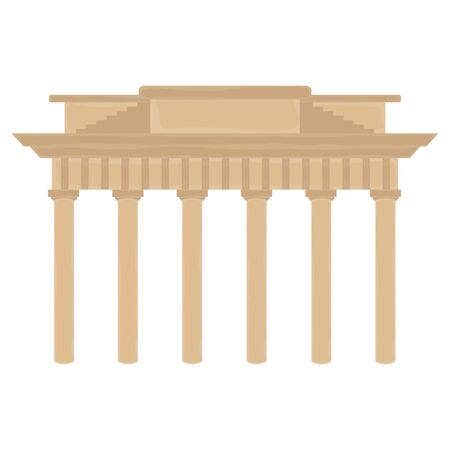 Isolated Brandenburg Gate colored icon over a white background - Vector 向量圖像