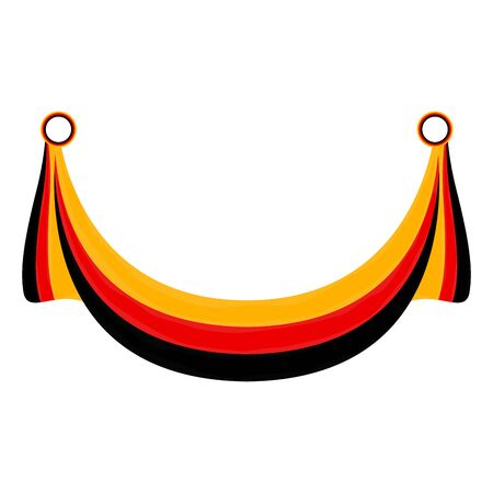 Isolated ribbon with the flag of Germany - Vector illustration