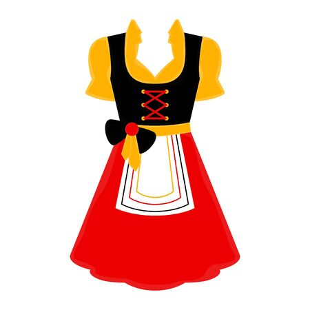 Isolated traditional oktoberfest dress icon over a white background - Vector Ilustração