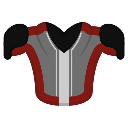 Isolated rugby shoulder pads on a white background - Vector Illustration