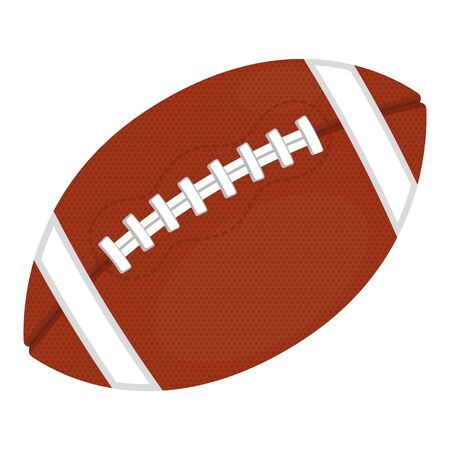 Isolated rugby ball on a white background - Vector