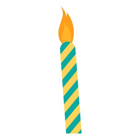 Isolated birthday candle icon over a white background - Vector
