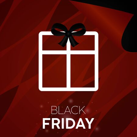 Black friday sale poster with details and text - Vector illustration