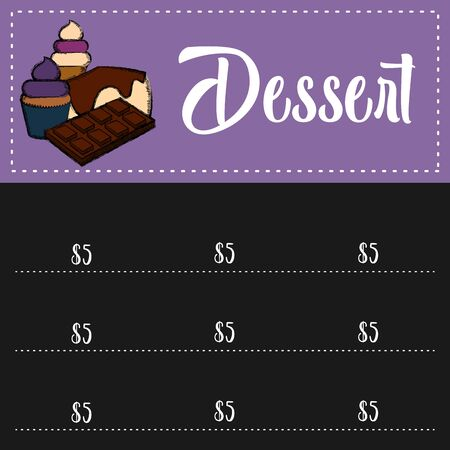 Food, drinks and desserts menu. Restaurant menu design - Vector illustration